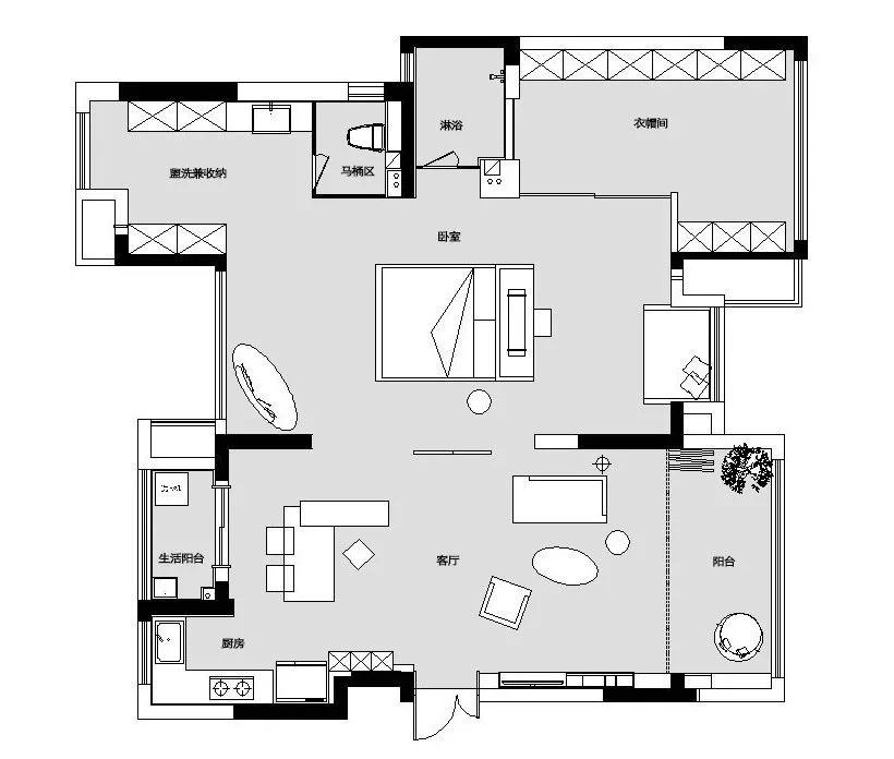 她花120万把四室改为一室:一人住!