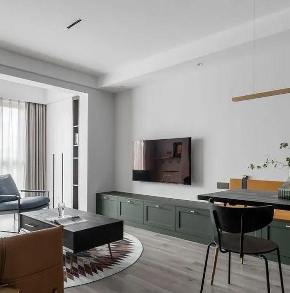 88㎡简约北欧风格装修,电视背景墙还能这样设计!