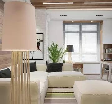 六组30平米小户型装修效果图公寓设计(5)