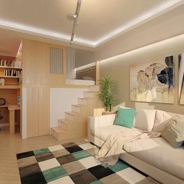 六组30平米小户型装修效果图公寓设计(6)