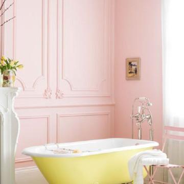 这样充满少女心的家居设计,让你每一天都能拥有冰淇淋色的好心情。粉色护墙板