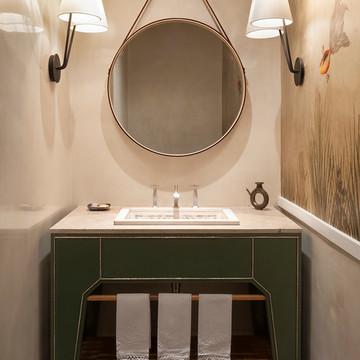 卫浴间_混搭_现代家庭设计室内卫生间