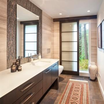 卫浴间_混搭_现代室内设计卫生间效果图欣赏