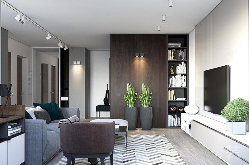 现代简约风格样板房装修效果图设计公司装修效果图