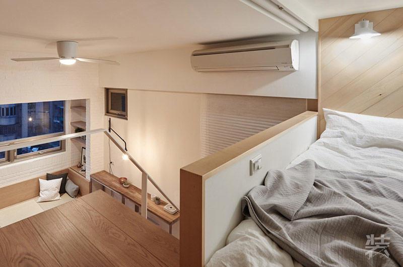 广告公司装饰效果图_22平米loft超小公寓装修效果图_非常宅装修设计效果图网
