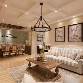 小美式风格三居室装修 温馨舒适