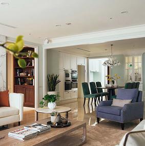 110平美式风格三房二厅装修图效果图