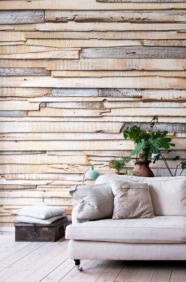 餐厅木板背景墙设计