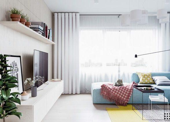 北欧风格温馨公寓装修设计效果图