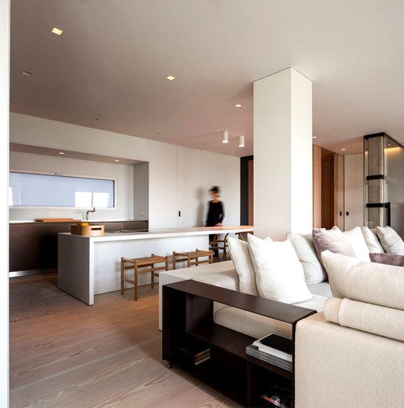 温暖舒适的开放式空间家装效果图