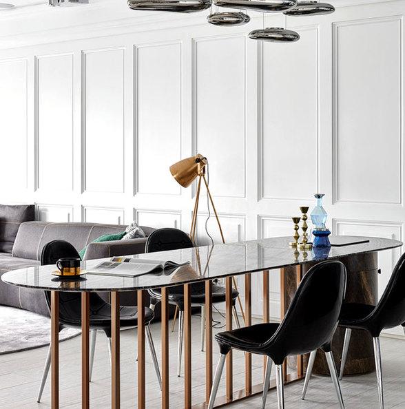 清晰线条优雅装饰艺术现代公寓设计时尚