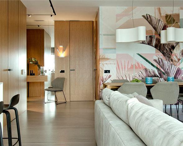 温馨柔和的色调: 波兰现代简约风公寓设计