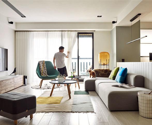 台湾装修俏皮简约风的公寓北欧装修设计