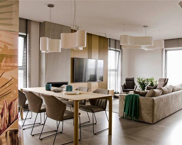 柔和温暖的现代公寓