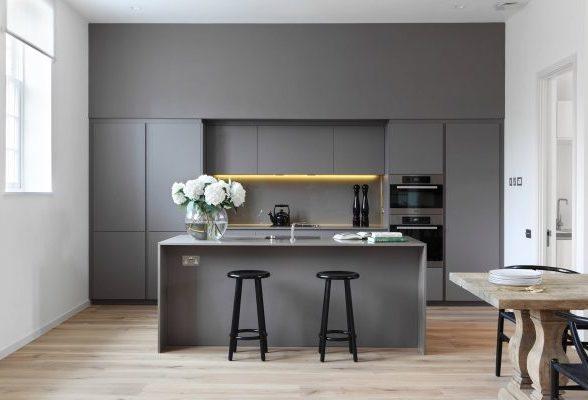 38个沉稳大气的灰色厨房设计