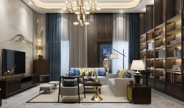 大气复式新中式别墅家装效果图