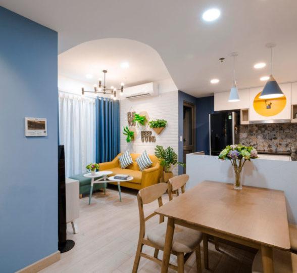 60平活力多彩蓝色公寓装修设计