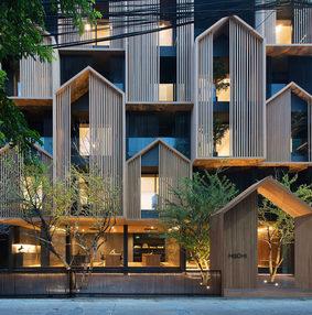 外立面房子造型的酒店