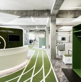 Onefootball足球主题办公室设计