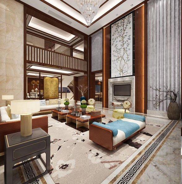 别墅新中式风格装修效果图欣赏