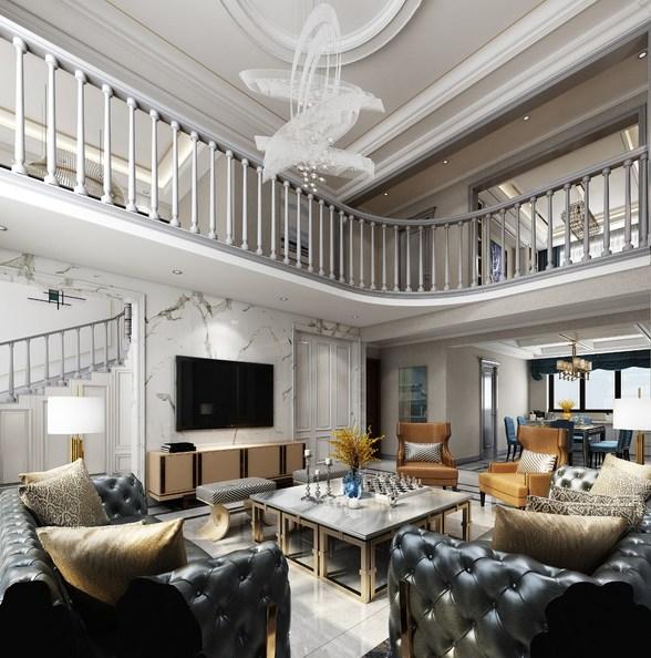 300平方米跃层轻奢美式别墅