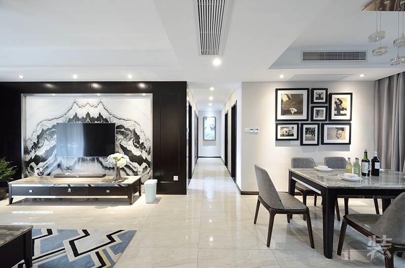 客厅石材背景墙_客厅石材背景墙装修效果图_非常宅装修设计效果图网