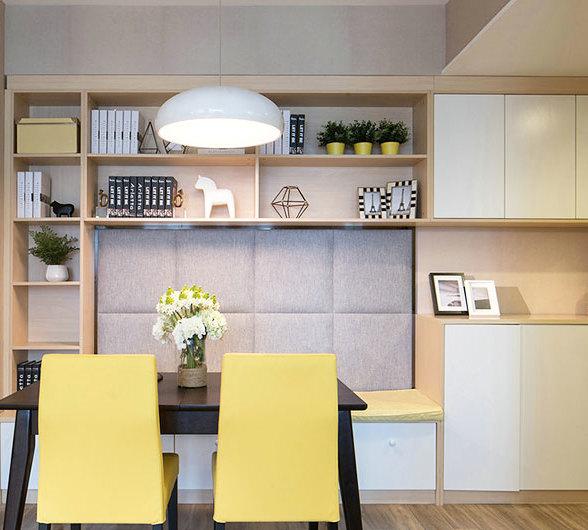 卡座餐厅北欧风格彩色设计