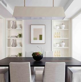 餐厅嵌入式墙柜装修效果图