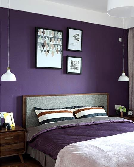 深紫色卧室装修效果图