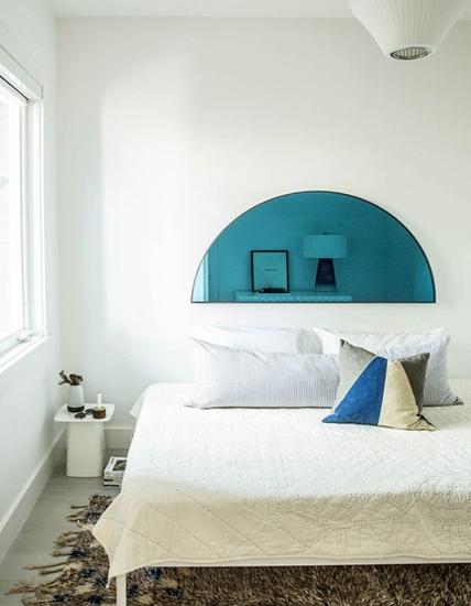 这床头背景是镜子吗?