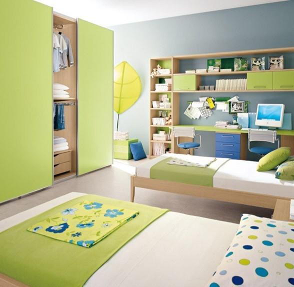 绿色系儿童房装修设计