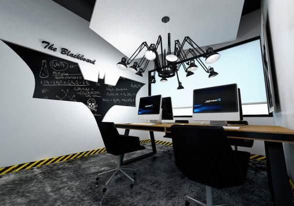 墙面办公室装修创意