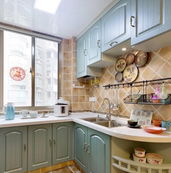 厨房弧形台面很少见