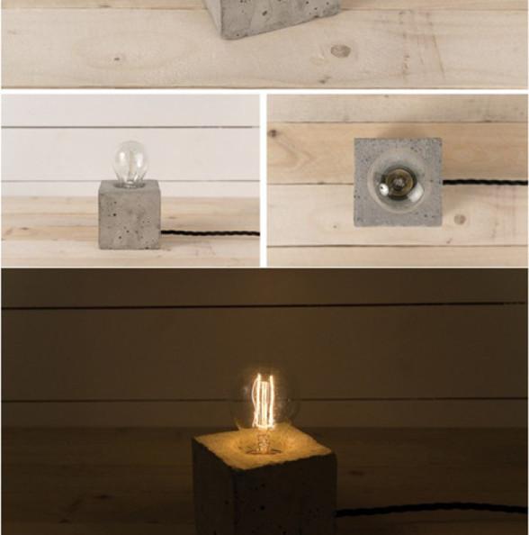 """混凝土是当代主要的土木工程材料之一。设计师Henrik Karlsson采用了混凝土毛坯与灯泡的组合,手工打造了一系列混凝土灯具。混凝土作为灯具材料之一,其实较为少见。在我的印象中,混凝土具有那种""""糙老爷们""""特有的狂野气质,配上传统的白炽灯和日光灯管,营造出超强的反差,一头是硬桥硬马,无坚不摧的混凝土;另一头则是温柔婉约,小心轻放的灯泡。当灯泡点亮,温柔的光芒足以消解了""""糙老爷们""""的狂野之气,狂野也有温柔时。"""