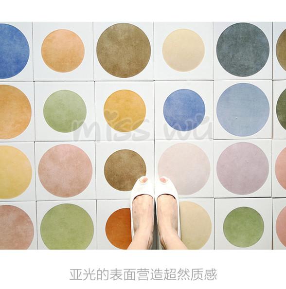 吾欢喜 北欧圆点个性复古瓷砖地砖墙砖厨房卫生间花片小花砖