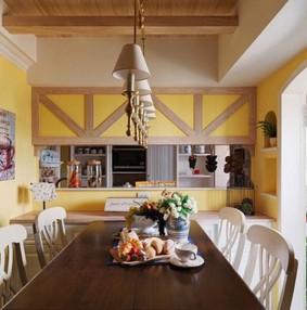 黄色餐厅设计