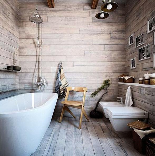 仿木纹砖卫生间效果