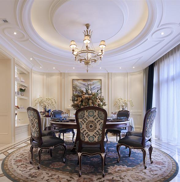 现代欧式风格别墅装修餐厅设计图
