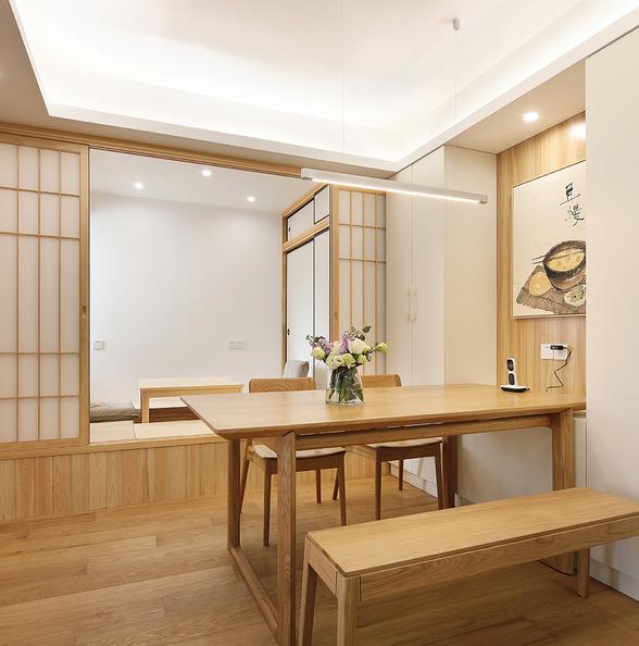 二居室简约日式家餐厅设计图