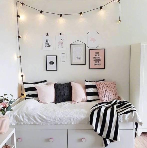 单身美少女的卧室风格