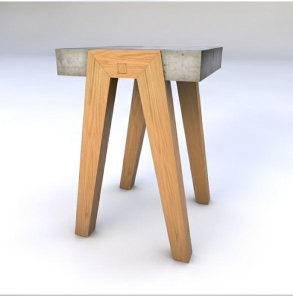 水泥和木材是两种经济又环保的材料,在家具可持续设计中扮演着重要的角色。墨西哥设计师Hector Leon利用当地的天然水泥和新西兰木材设计了一张混搭边桌。工字桌面采用水泥浇筑而成,桌腿和支架则用木材做成,将桌面直接放在木头支架上即可使用,无需其它固定件和工具。 简单,结实,经济,而又不乏现代感、潮流感和时尚感。