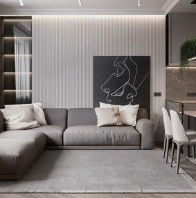 乌克兰基辅130㎡公寓设计