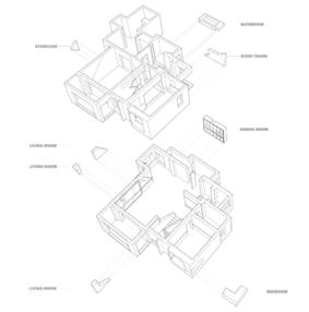 现代色块创意装修效果图