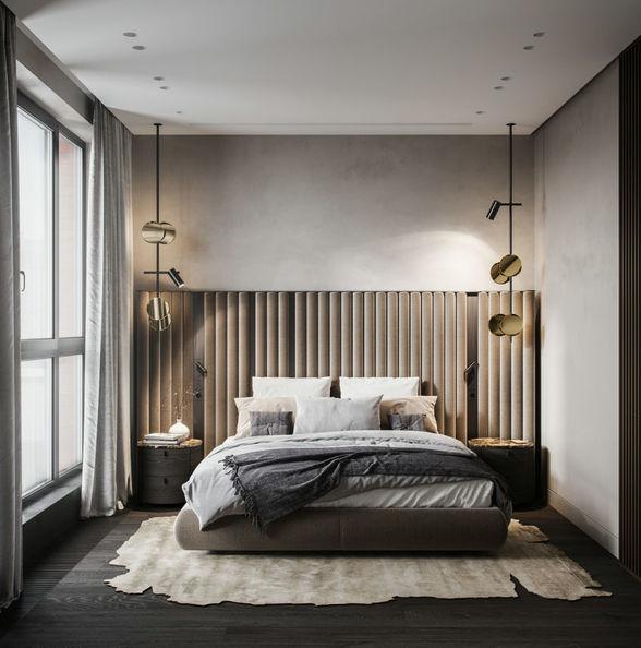 软包卧室床头背景