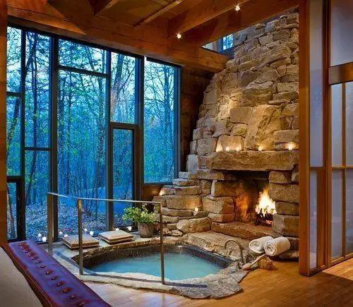 你以为洗澡不在室外能称得上享受?