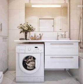卫生间干区加滚筒洗衣机装修效果图